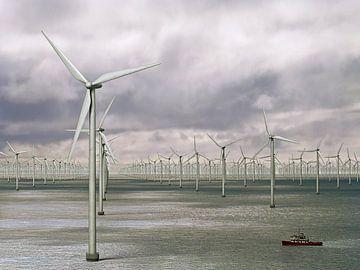 Un millier de éoliennes en Mer - l'orage est à venir