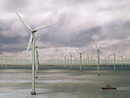 Duizend windmolens op zee - storm op komst van