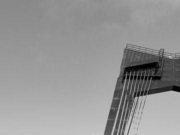 Willemsbrug schwarz-weiß von Edwin Muller