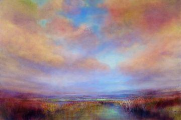 Kleuren van het licht op de heide van Annette Schmucker