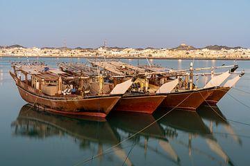 Bootjes in de haven van Jeroen Kleiberg