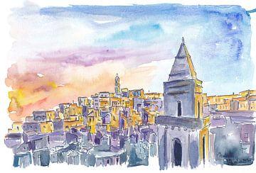 Matera Basilikata Italien Sassi Sonnenuntergang von Markus Bleichner