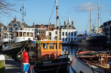 Vieux Tug Harbour Maassluis sur Maurice Verschuur