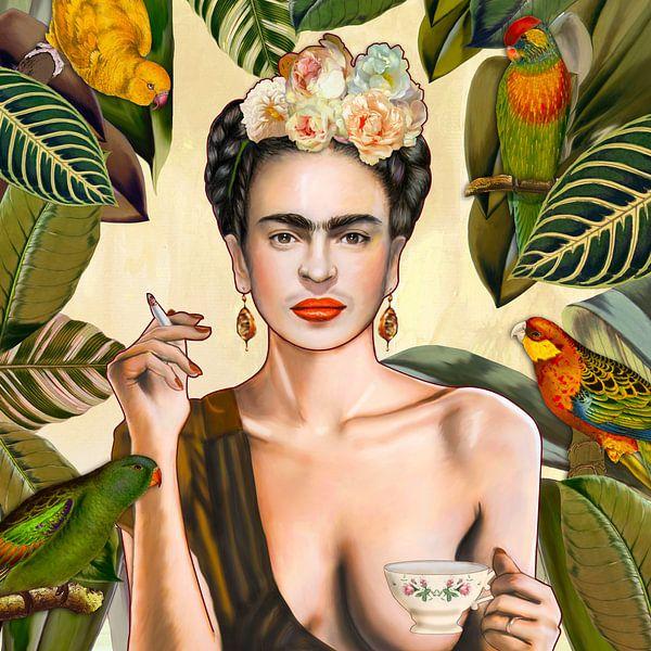 Frida con Amigos Mexican von Nettsch .
