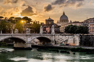 Sunset Rome - Uitzicht op het Vaticaan sur Marco Schep
