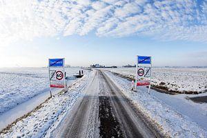 Winterlandschap bij Dorkwerd