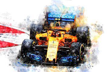 Fernando Alonso, F1 2018 van Theodor Decker