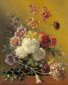 Stilleven met bloemen in een vaas, Georgius Jacobus Johannes van Os van