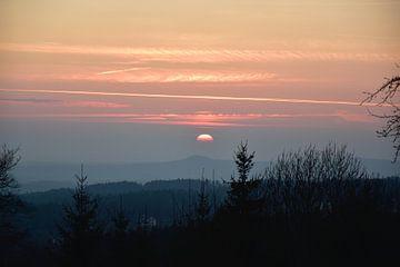 Zonsondergang in de bergen van Marcel Ethner