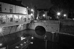 Oude Dieze Den Bosch zwart- wit van