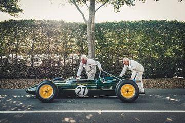 Lotus race car van