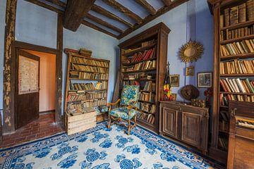 een bibliotheek in een Frans Kasteel van Aurelie Vandermeren