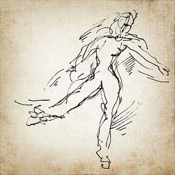 Danser toen en nu 2 van Eva van den Hamsvoort