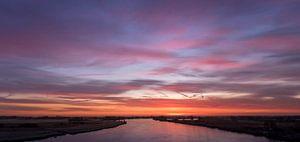 De IJssel voor zonsopgang