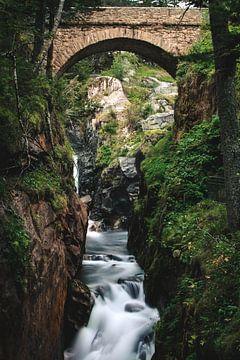 Waterval van de Pyreneeen van Maureen Materman