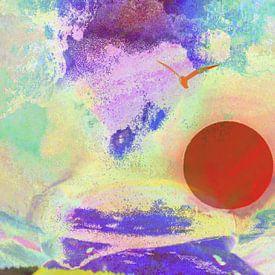Abstraktion Himmel van Peter Norden