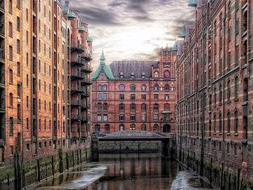 Hamburgse pakhuisdistrict van Joachim G. Pinkawa