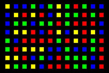 Nested | Center | 12x08 | N=01 | Random #04 | RGBY van Gerhard Haberern