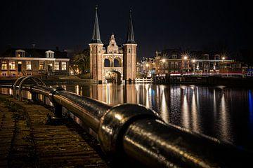 Die Schleuse von Sneek am Kolk von Fotografiecor .nl
