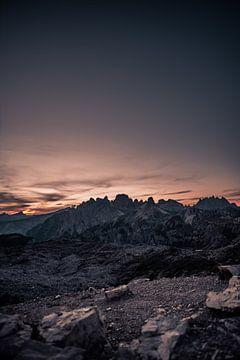 Dolomieten zonsondergang van Bastis photos