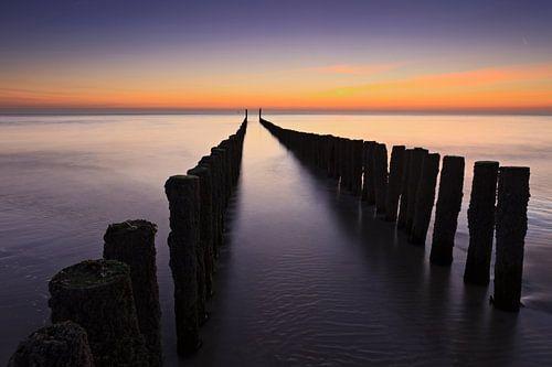 sfeervolle zonsondergang in Zeeland