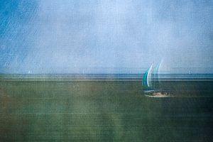 Bateau à voile sur la mer des Wadden