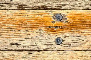 Ruw houten tafelblad van