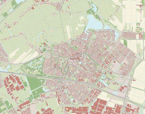 Kaart vanZoetermeer van Rebel Ontwerp