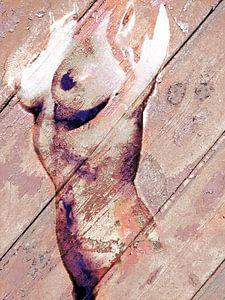 Malen, weiblicher Körper, Akt, Pastell.
