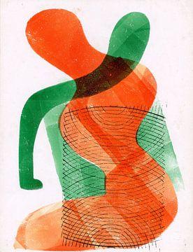 Sitzende Frau, Henry Nicholas Werkman von Atelier Liesjes