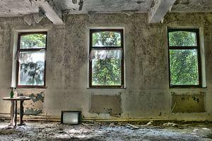 Architectuur verlaten woning  van
