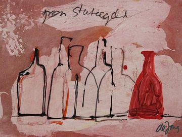 Geen Statiegeld, flessen stilleven von Leo de Jong