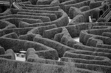 Ouderwets doolhof, zwart wit foto van Patrick Verhoef