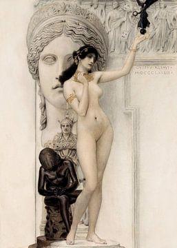 Allégorie de la sculpture - Gustav Klimt sur Rudy en Gisela Schlechter