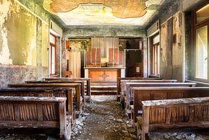 Chapelle abandonnée en ruine.
