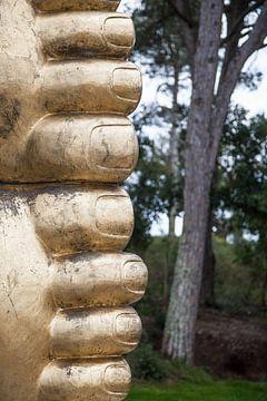 Buddha von Tot Kijk fotografie: natuur aan de muur