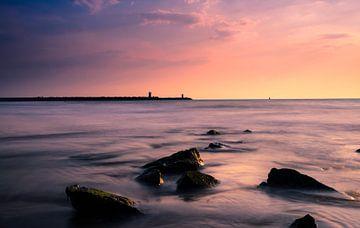 Zonsondergang in Scheveningen van Rob Bout