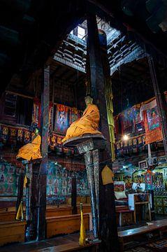 Interieur gebedszaal boeddhistisch klooster van Affect Fotografie