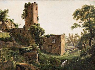 Wilhelm-Marstrand-Landschaft mit Ruinen