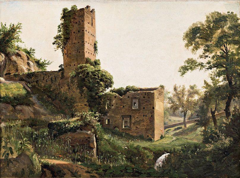 Wilhelm-Marstrand-Landschaft mit Ruinen von finemasterpiece