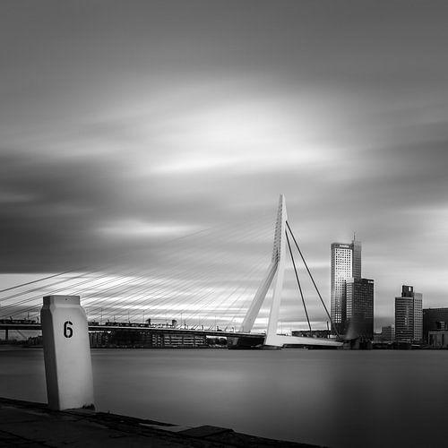 Erasmus-Brücke (Quadrat) von Prachtig Rotterdam
