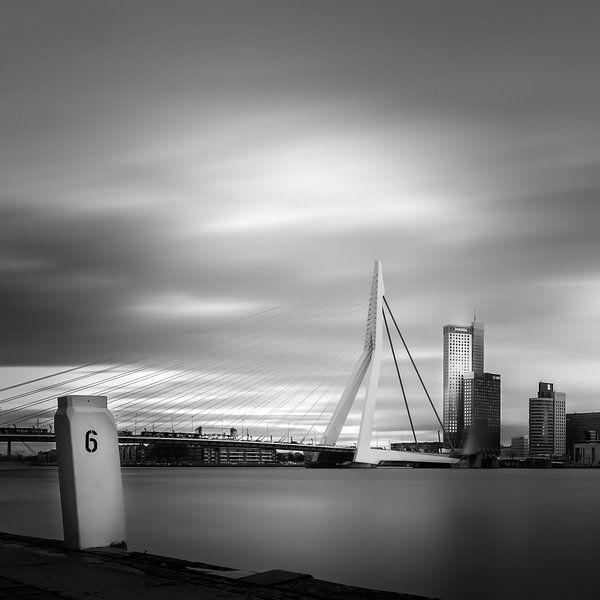 Erasmusbrug (vierkant) van Prachtig Rotterdam