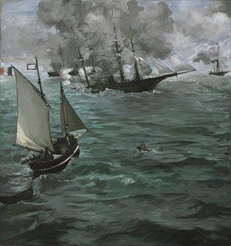 """Die Schlacht um die U.S.S. """"Kearsarge"""" und die C.S.S. """"Alabama"""","""