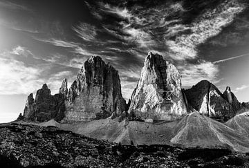 Dolomieten zwart-wit van Denis Feiner