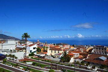 Uitzicht op de historische stad La Orotava van kanarischer Inselkrebs Heinz Steiner