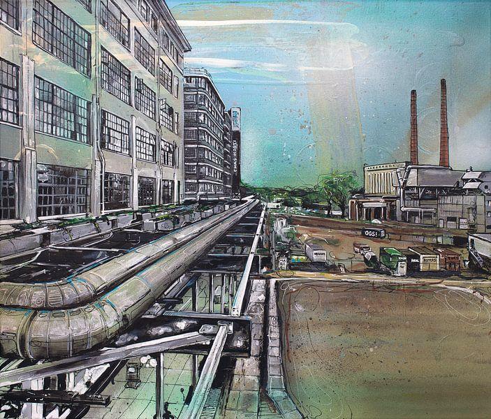 Eindhoven Strijp-S schilderij van Jos Hoppenbrouwers