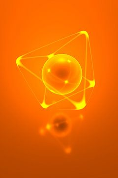Glowing Edge Cube van Jörg Hausmann