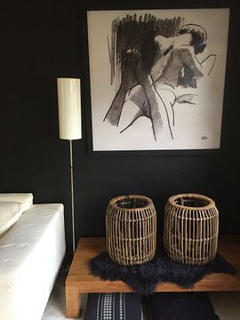Kundenfoto: Zeichnung eines Aktmodells mit Kohle von Pieter Hogenbirk