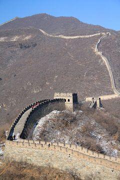 Die Chinesische Mauer, Peking von Sarah Lugthart