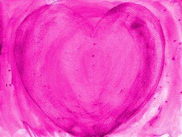 Herz pink van Katrin Behr
